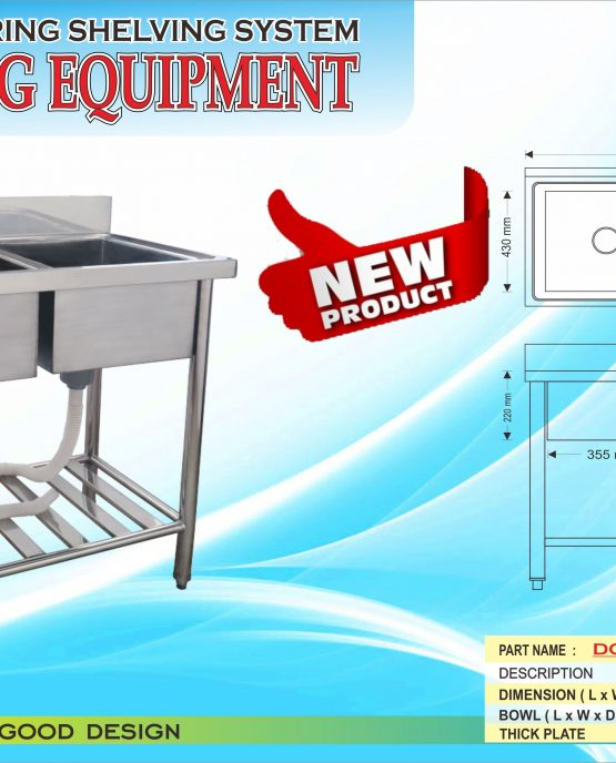double bowl sink equipment